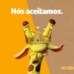 Girafa aceita pedido do Rei