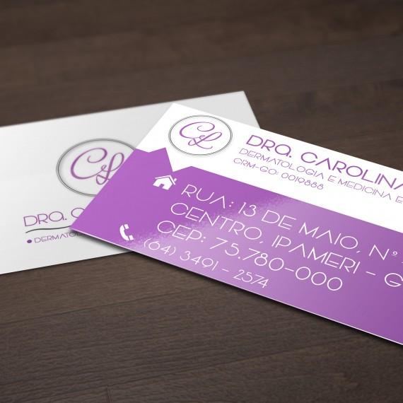 Cartão de Visita - Dra Carolina